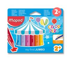 Voskové pastely  MAPED COLOR'PEPS WAX JUMBO - 12 farieb
